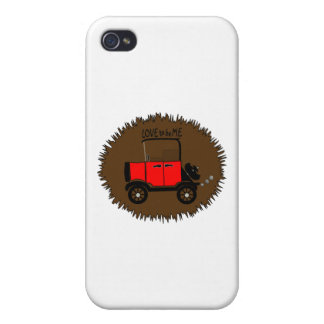 ANTIQUE CAR -- LOVE TO BE ME.png iPhone 4/4S Covers