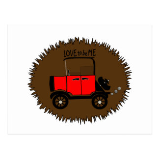 ANTIQUE CAR -- LOVE TO BE ME.png Post Cards