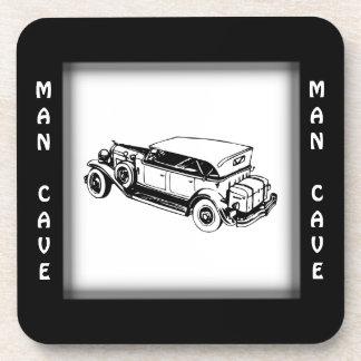 Antique Car Man Cave Collectible Coaster