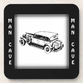 Antique Car Man Cave Collectible Coaster
