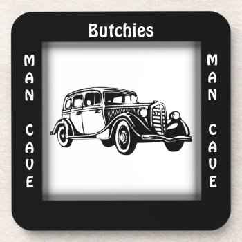 Antique Car Man Cave CUSTOMIZE Coaster