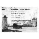 Antique Car Mechanic Restoration and Repair Large Business Cards (Pack Of 100)