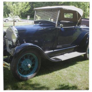 Antique car napkin