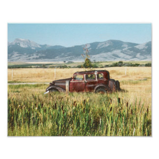Antique Car Photograph Poster