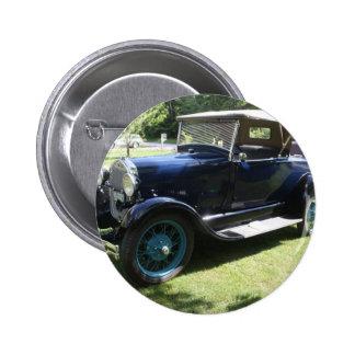 Antique car pinback button