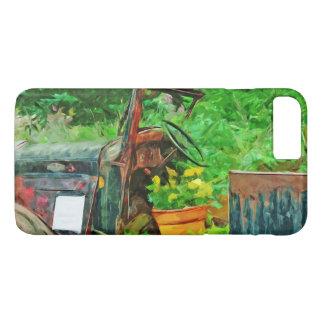 Antique Car Planter Abstract Impressionism iPhone 8 Plus/7 Plus Case