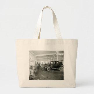 Antique Car Repair Garage, early 1900s Bag
