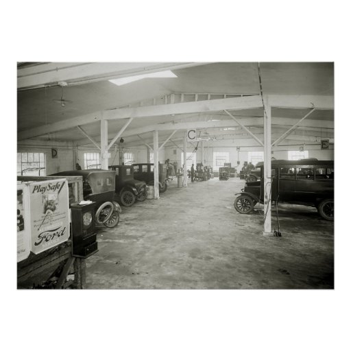 Antique Car Repair Shop, 1910s Poster
