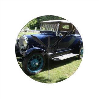 Antique car round clock
