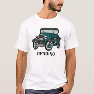 Antique Car with Customizable Text T-Shirt