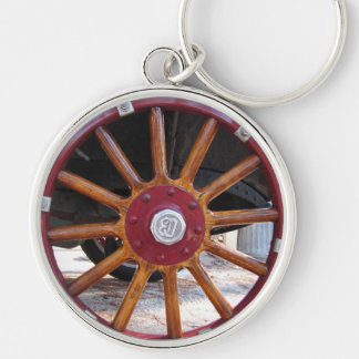 Antique Car Wooden Spoke Wheel Key Chain