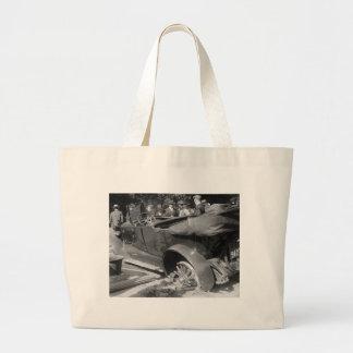 Antique Car Wreck, 1918 Canvas Bag