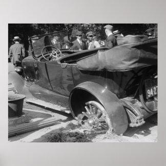 Antique Car Wreck, 1918 Poster