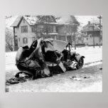 Antique Car Wreck, 1923 Posters
