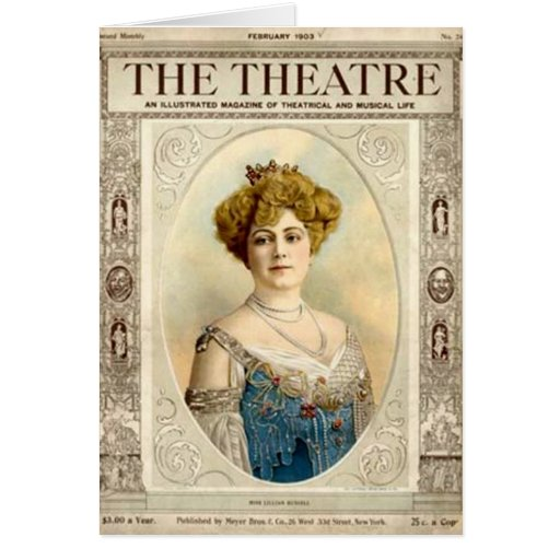 Antique Card about the Theatre