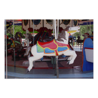 Antique Carousel Horse Poster