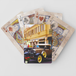 Antique Cars on Display at Country Club Plaza KC Bicycle Playing Cards