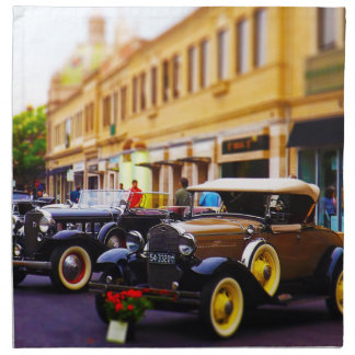 Antique Cars on Display at Country Club Plaza KC Printed Napkins