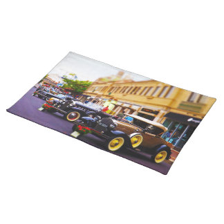 Antique Cars on Display at Country Club Plaza KC Place Mats