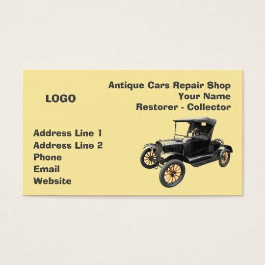 Antique cars repair shop collector 2 business card zazzle antique cars repair shop collector 2 business card colourmoves Images