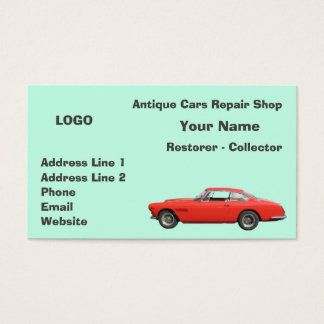 Antique Cars Repair Shop Collector 3 Business Card
