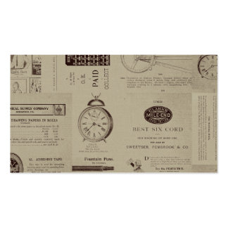 Antique Catalog Pages Business Card Template