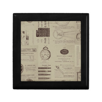 Antique Catalog Pages Gift Box