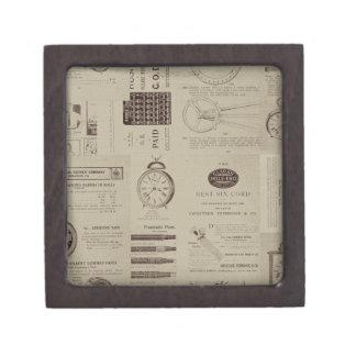 Antique Catalog Pages Premium Keepsake Boxes