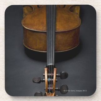 Antique Cello Beverage Coaster