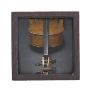 Antique Cello Keepsake Box