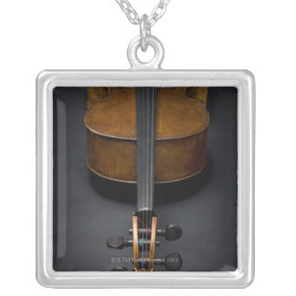 Antique Cello Silver Plated Necklace