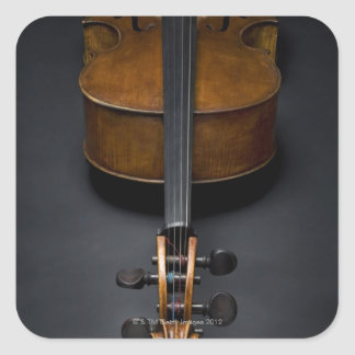 Antique Cello Square Sticker