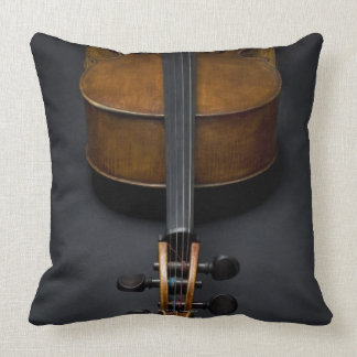 Antique Cello Throw Pillow