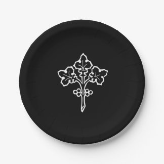 Antique Celtic Sprig of Holly with Berries Paper Plate