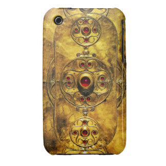 ANTIQUE CELTIC WARRIOR SHIELD WITH RUBY GEM STONES iPhone 3 Case-Mate CASE