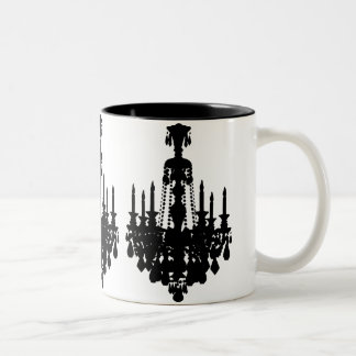 Antique Chandelier Graphic Two-Tone Coffee Mug