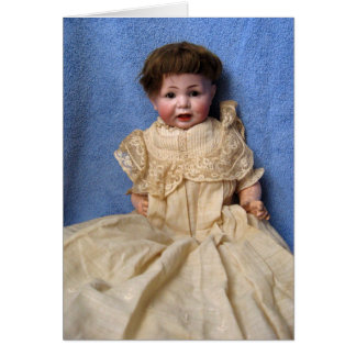 Antique Character Baby Boy Doll Greeting Card