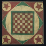 "Antique Checkerboard by Ethan Harper Cloth Napkin<br><div class=""desc"">A checkerboard that also serves as art? Double the pleasure! This antique board was created by Ethan Harper. Hang it on your wall,  or call a friend and start a game of checkers!</div>"