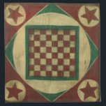 """Antique Checkerboard by Ethan Harper Cloth Napkin<br><div class=""""desc"""">A checkerboard that also serves as art? Double the pleasure! This antique board was created by Ethan Harper. Hang it on your wall,  or call a friend and start a game of checkers!</div>"""