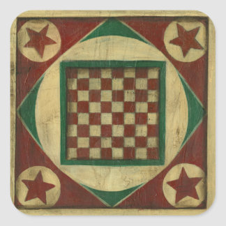 Antique Checkerboard by Ethan Harper Square Sticker