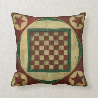 Antique Checkerboard by Ethan Harper Throw Pillow