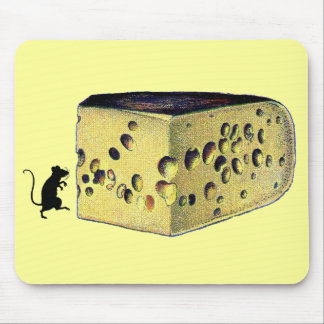 Antique Cheese Gruyere Mouse Pads