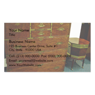 Antique chest of drawers business card