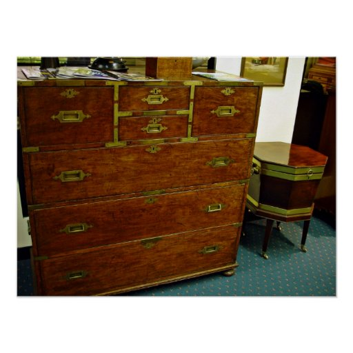 Antique chest of drawers poster