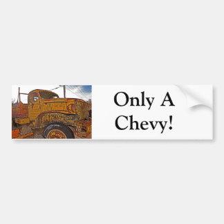 Antique Chevy Truck in Keeler, CA Bumper Sticker