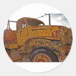 Antique Chevy Truck in Keeler, CA Classic Round Sticker