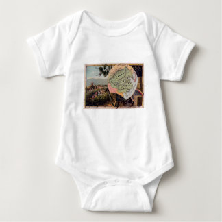 Antique China Map Chinese Empire Absolute Monarchy Baby Bodysuit