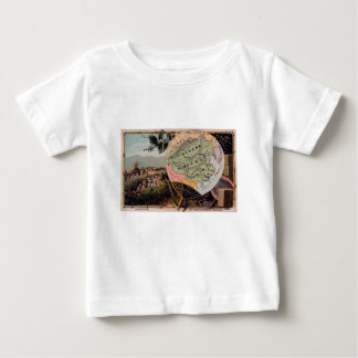Antique China Map Chinese Empire Absolute Monarchy Baby T-Shirt