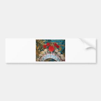 antique chinese headress bumper sticker