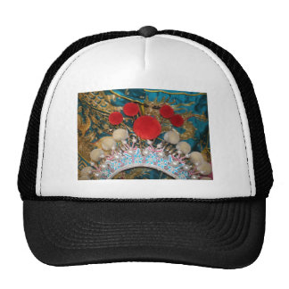 antique chinese headress trucker hat